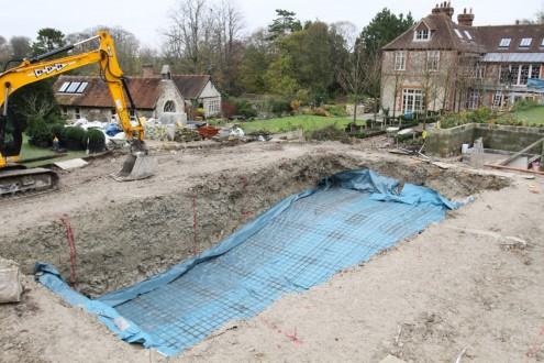 New swimming pool dug out